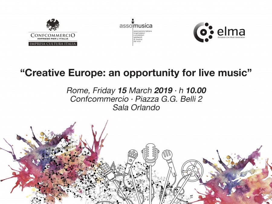 "Programme - Conference ""Creative Europe: an opportunity for live music"" - Rome, 15 March 2019"