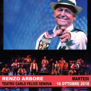 Renzo Arbore al Cerlo Felice di Genova