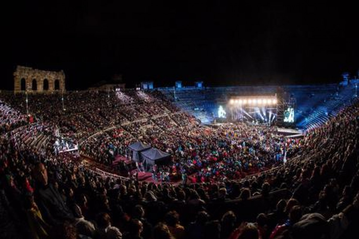 A Verona i Wind Music Awards, l'Arena blindata