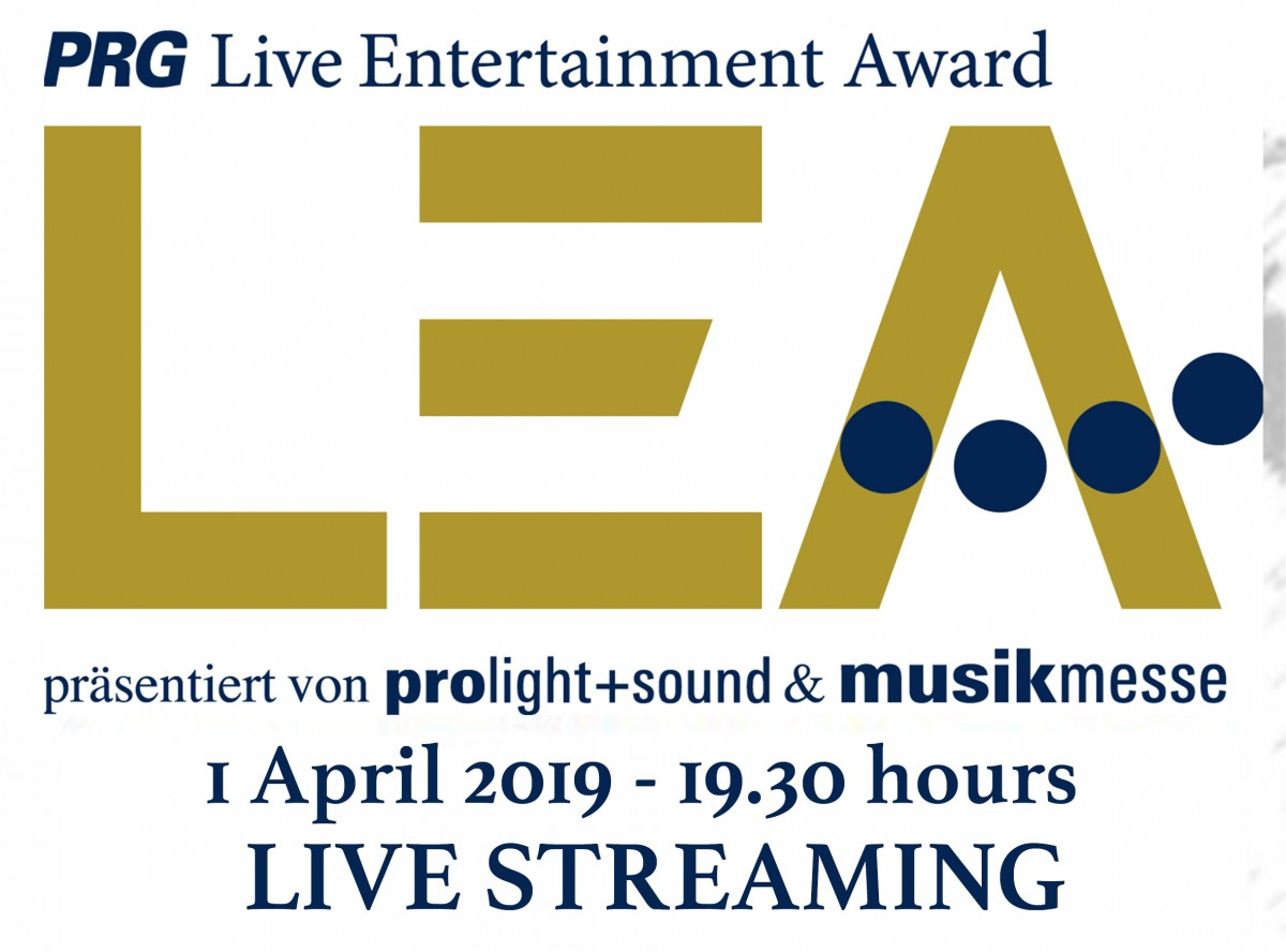 PRG Live Entertainment Award 2019 - segui la diretta streaming 1 Aprile 2019
