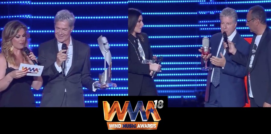 WIND MUSIC AWARDS 2018: I VIDEO DEI PREMI ASSOMUSICA A BAGLIONI E PAUSINI